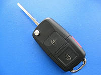 VW - корпус выкидного ключа 2+1 кнопки, HU66
