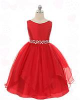 Д-101299 Красное детское вечернее платье на выпускной