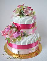 """Подарок новорожденному. Торт из памперсов """"Фантазия"""" 60 шт., фото 1"""
