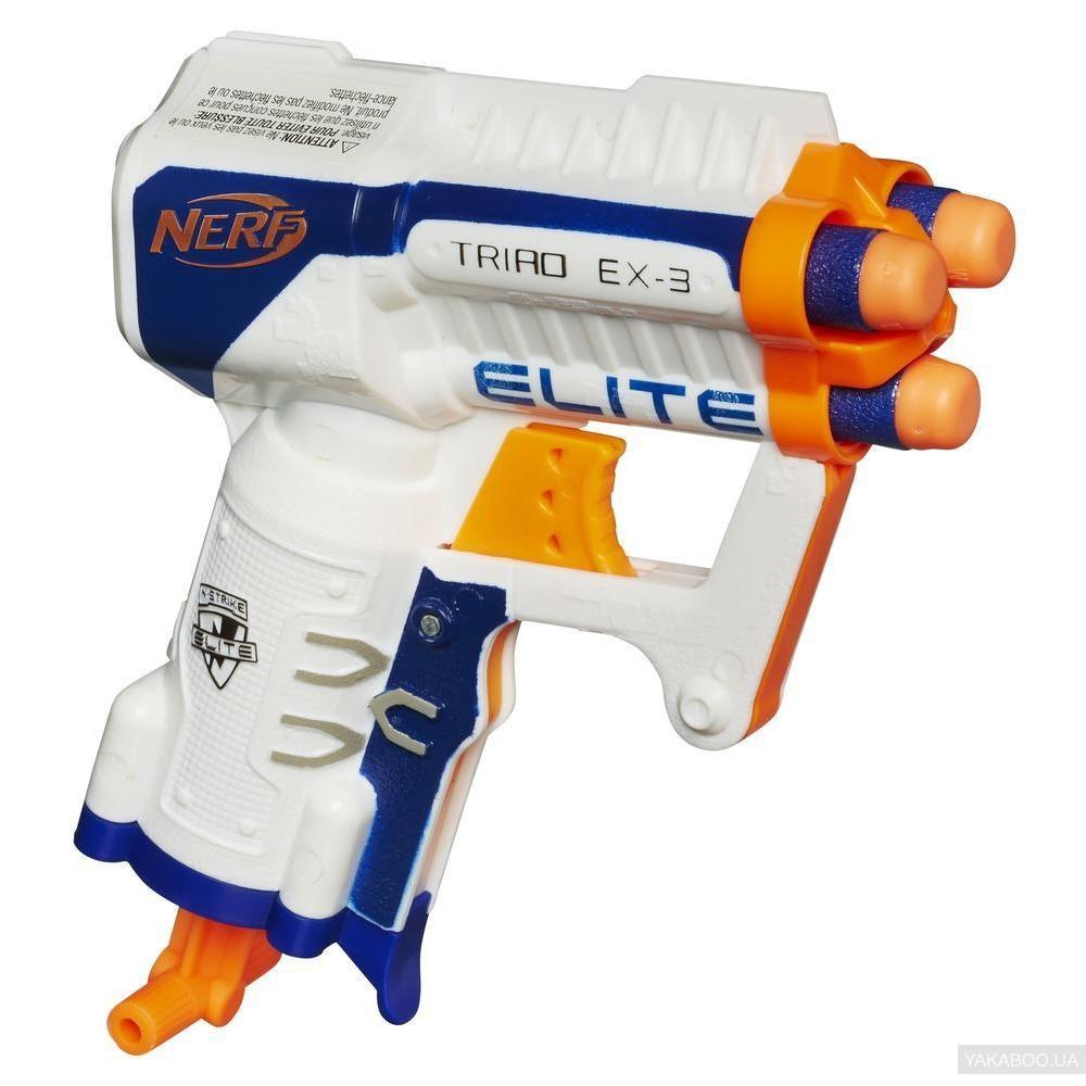 Игрушечное оружие «Hasbro» (A1690E35) бластер Нёрф Бластер Элит Триад (Nerf N-Strike Elite Triad EX-3)