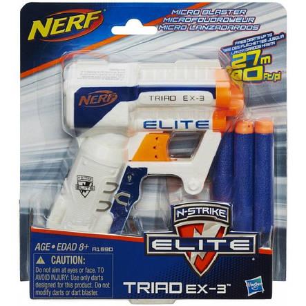 Игрушечное оружие «Hasbro» (A1690E35) бластер Нёрф Бластер Элит Триад (Nerf N-Strike Elite Triad EX-3), фото 2