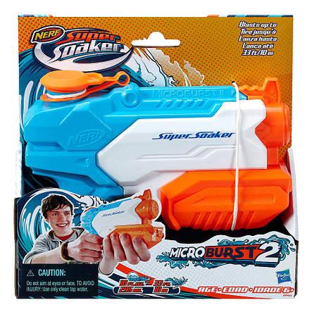 Игрушечное оружие «Hasbro» (A9461) водяной бластер Нёрф Супер Сокер Микробёрст 2 (Nerf Super Soaker Microburst 2), фото 2
