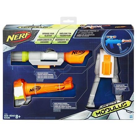 Игрушечное оружие «Hasbro» (B1537) набор Нёрф Модулус СЕТ 4: Меткий стрелок (Nerf Modulus Long Range Upgrade Kit), фото 2
