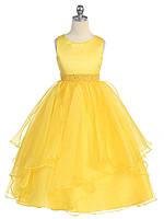 Д-101298 Желтое детское вечернее платье на выпускной
