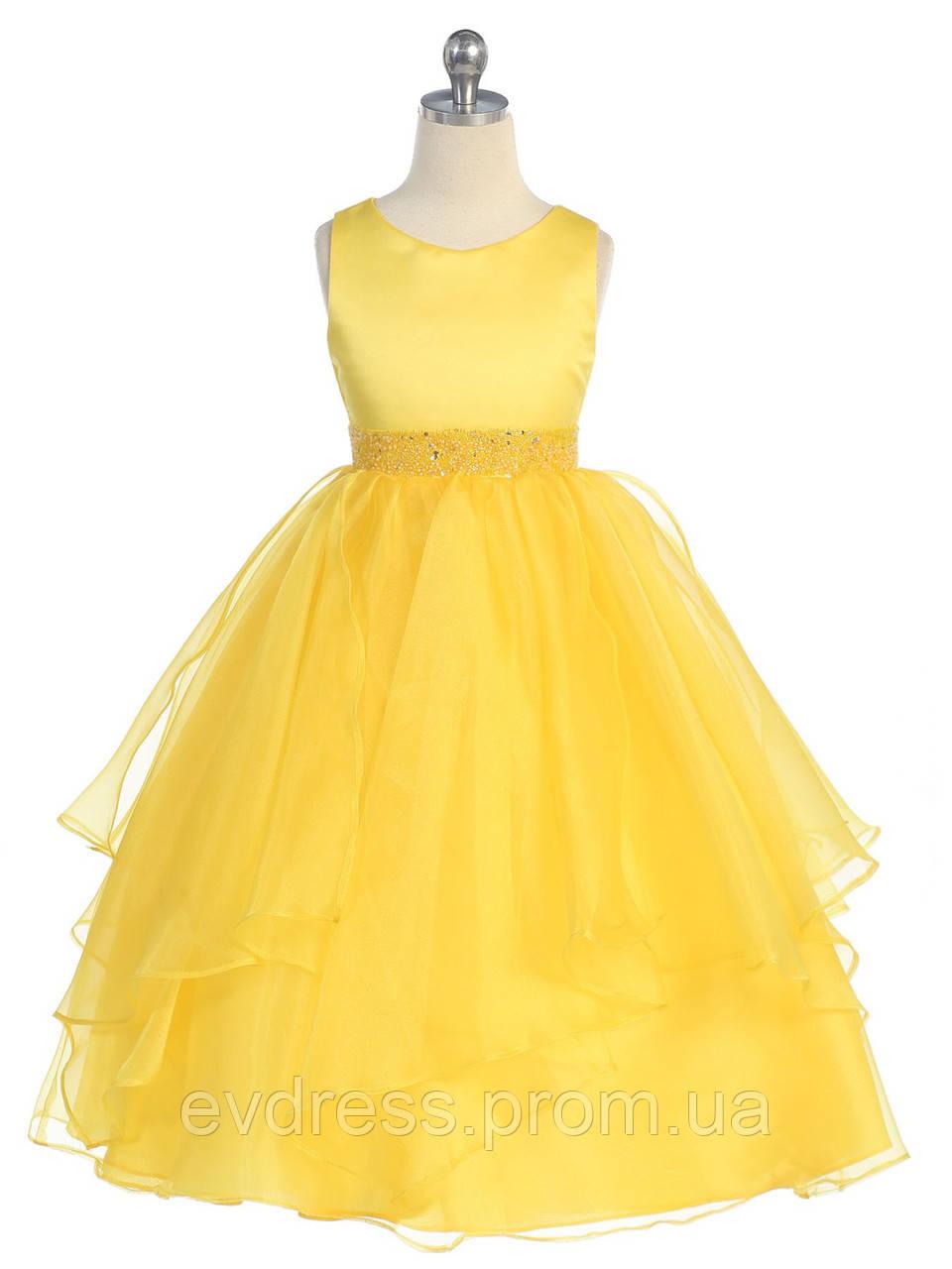 def388feb94 Д-101301 Желтое детское вечернее платье на выпускной
