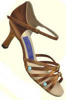Туфли для танцев  женские Латина  сатин узелки оригинальная модель.