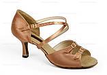 Туфли для танцев  женские Латина сатин, парча с простыми пряжками., фото 2