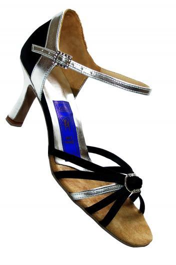 Туфли для танцев  женские Латина черный сатин или нубук оригинальная модель.