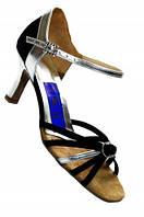 Туфли для танцев  женские Латина черный сатин или нубук оригинальная модель 23,5 (37 р) в наличии!