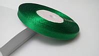 Лента атласная 0,6 см №15 зеленая