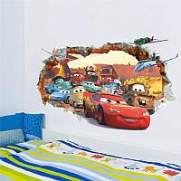 """3D интерьерная виниловая наклейка на стену для детей """"Тачки"""""""