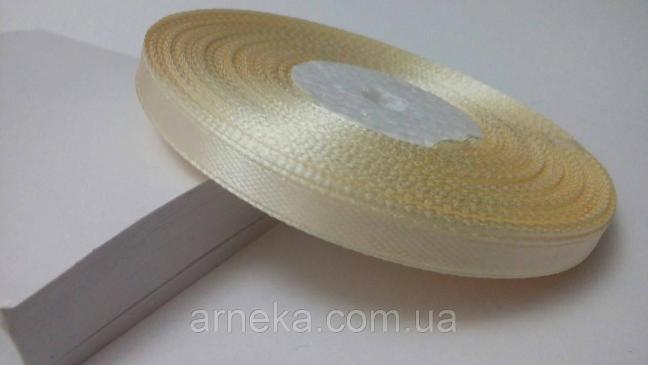 Стрічка атласна 0,6 см №19 кремова