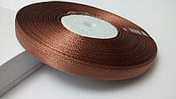Лента атласная 0,6 см №21 светло коричневая