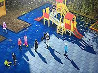 Резиновое покрытие для детских площадок, 30 мм