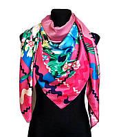 Шелковый платок Ирландия, 140х140 см - розовый