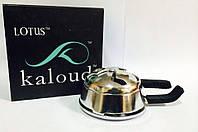 Калауд лотус для кальяна Silver гланцевый в коробке на 2 ручки