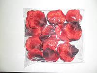 Лепестки роз искусственные темно красные ( 600шт. )