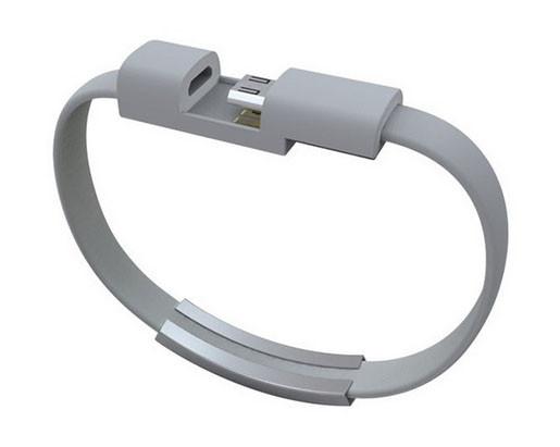 Кабель-браслет USB-lightning для iphone або ipad СІРИЙ SKU0000372
