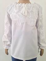 Блузка, украинская вышиванка льняная   для девочки Бажана из батиста
