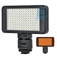 Накамерный светодиодный свет со встроенным аккумулятором LED VL011-150, 6000K (3200K/фильтр).