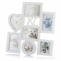 Фотоколлаж на 7 фото, рамки для свадебных фотографий