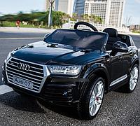 Детский электромобиль Audi Q7 M 3231 EBLR-2, мягкое кожаное сиденье, черный