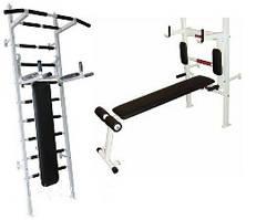 Шведська стінка спортивна Fitness Pro m.2(біла)
