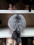 Меховая шапка из норки и чернобурки на вязанной основе, фото 5