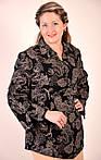 Блуза туника длинная женская теплая с французского трикотажа р 54-62, фото 2