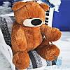 Большая мягкая игрушка Плюшевый медведь Бублик 80 см (коричневый)