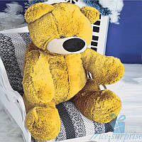 Большая мягкая игрушка Плюшевый медвежонок Бублик 80 см (жёлтый), фото 1