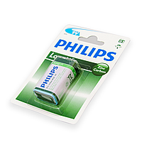 Батарейка 9v (6F22) Philips Longlife