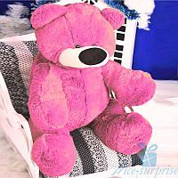 Красивый плюшевый медвежонок Бублик 80 см (ярко-розовый), фото 1