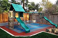 Покрытие для детских площадок 500х500х35 мм, резиновая плитка от производственной компании Мархо-Груп, фото 1