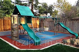 Покрытие для детских площадок 500х500х35 мм, резиновая плитка от производственной компании Мархо-Груп
