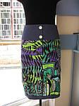 Жилет жакет яркий джинсовый сафари с поясом (ЖК 471541), фото 4