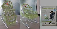 Детский шезлонг-люлька 3в1 BT-BB-0003 GREEN
