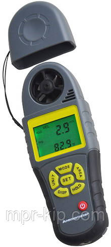 Анемометр Kecheng KC-280B ( SR5280B ) (0.4~30.0m/s; 0~100%; 0~50°C; 0~36000CMM) точка росы