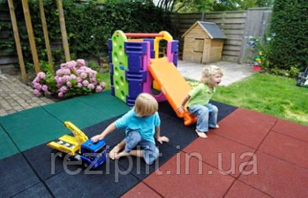 Безопасное резиновое покрытие для детских площадок 500х500х35 мм