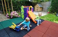 Безопасное резиновое покрытие для детских площадок 500х500х35 мм, фото 1