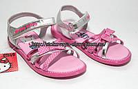 Нежные розовые серебристые босоножки для девочки Hello Kitty, 24, 26, 27, 28 размер