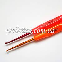 Крючок для вязания, 2 мм,  цветной