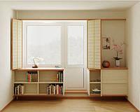 Балконный блок КВЕ 3-камерный дверь 700*2100 и окно 1300*1400 глухое