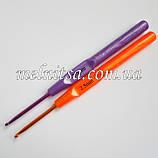 Крючок для вязания, 2,5 мм,  цветной, фото 2