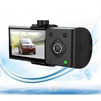 Видеорегистратор c GPS DVR H990S на 2 камеры, с GPS навигатором