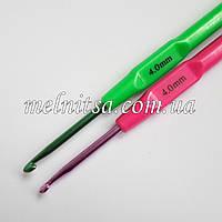 Крючок для вязания, 4 мм,  цветной