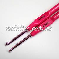 Крючок для вязания, 4,5 мм,  цветной