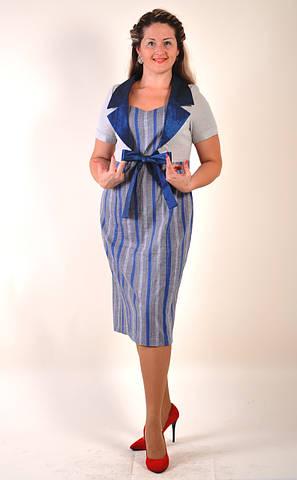 Платье лен хлопок , костюм лето 067-3