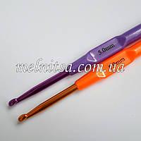 Крючок для вязания, 5 мм,  цветной