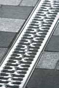 Решетка с прорезями 100см., А15, нержавеющая сталь, для каналов V 100 крепления DRAINLOCK